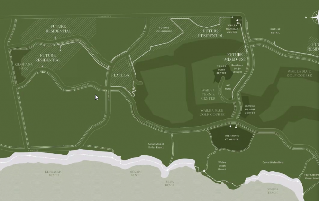 Wailea Hills Site Map